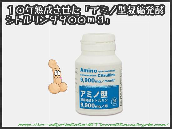 アミノ型凝縮発酵シトルリン9900mg